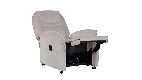 Relaxsessel günstig  Fernsehsessel mit Aufstehhilfe creme TV Sessel Stoffbezug weich ...
