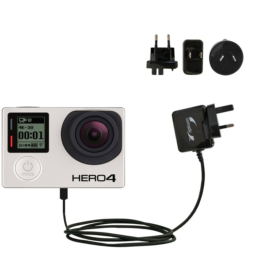 高度な国際壁AC 2 A充電器と互換性GoPro hero4 /Hero 4 – 強力な10 W充電、Built with GomadicブランドTipExchangeテクノロジー、for Worldwide Use B00UKEEMO6