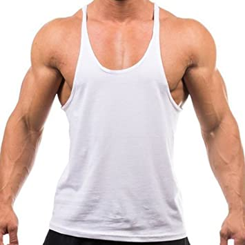MIOIM® Camisetas De Tirantes Deportivo Gimnasio Fitness Running Tops Camisetas T-Shirts Chaleco Suelto para Hombre: Amazon.es: Deportes y aire libre