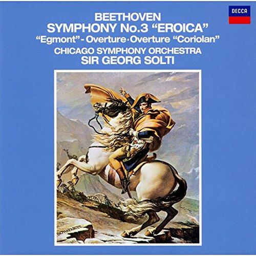 ゲオルグ・ショルティ(指揮) シカゴ交響楽団 / ベートーヴェン:交響曲第3番「英雄」・「エグモント」序曲・序曲「コリオラン」