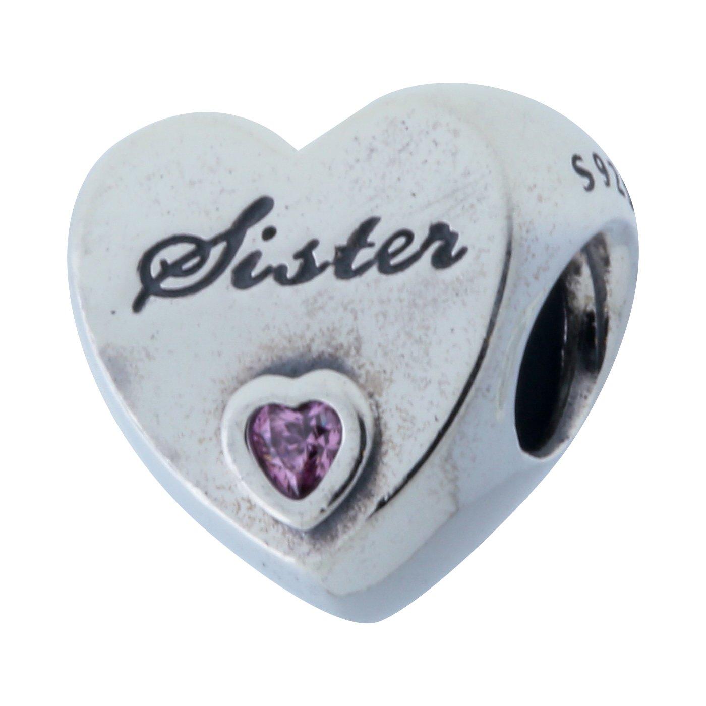 Pandora Women's 791946PCZ Sister's Love Charm