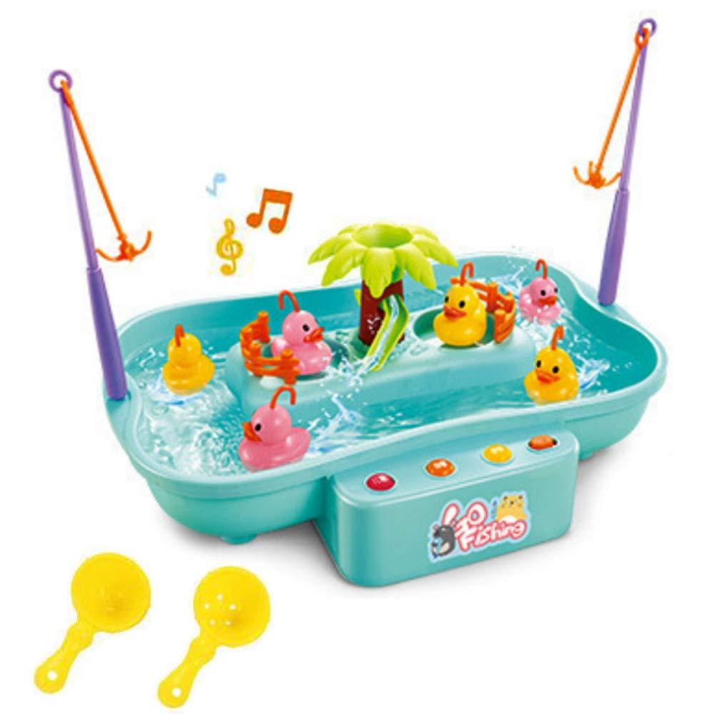 Mobby Gioco d'Acqua Tavolo da Gioco Gioco di Pesca Parco Acquatico con Musica Swirl Stagno e palo di Pesce per i Bambini Regalo