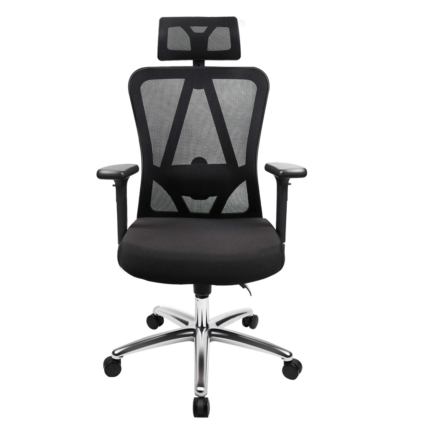 TOPVORK High Back Mesh Office Chair Ergonomic Chair, Desk Chair with Adjustable Headrest/Armrest and Lumbar Support, Better Spine Protection for Sedentary People
