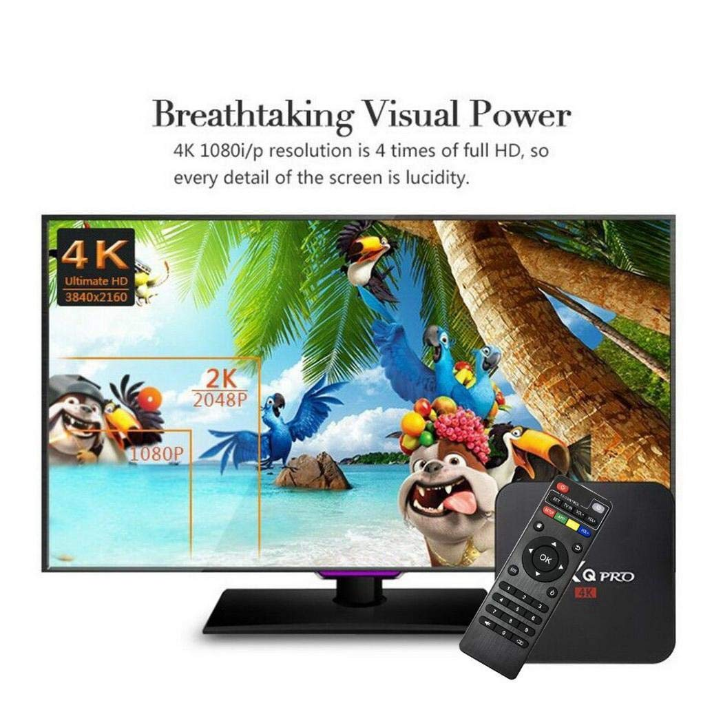 yagot MXQ PRO TV Box decodificatore di Rete Android 7.1 Wireless 1080P Smart TV WiFi Player Media Player 4K TV Box Accessori (1 + 8GB)
