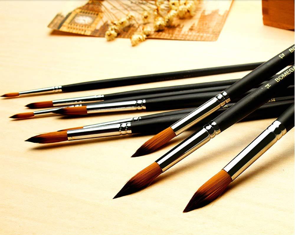 Detail Pinsel-Set Miniatur-Pinsel f/ür Aquarell und Acryl Malerei 6 St/ück.