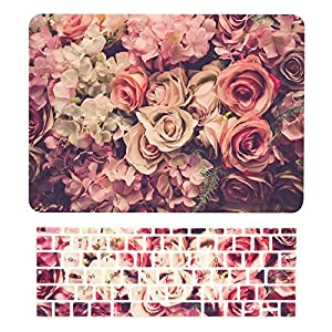 "TOP CASE - MacBook Pro 13 WITHOUT Touch Bar (2017 & 2016 Release) 2 in 1, Floral Pattern Matte Hard Case + Keyboard Cover for MacBook Pro 13"" (13"" Diagonally) No Touch Bar A1708 - Lavish Floral"
