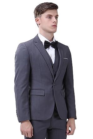 Men's Suit 3 Piece Single Breasted Slim Fit Dress Suit Jackets ...