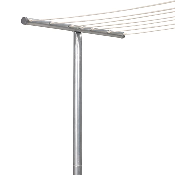 Household Essentials T-2050 Steel Outdoor Clothesline T Post | Single T-Post