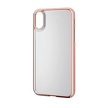 116df239f4 エレコム iPhone X ケース カバー ハード ポリカーボネート素材 サイドメッキ 【端子・ボタン回りまで