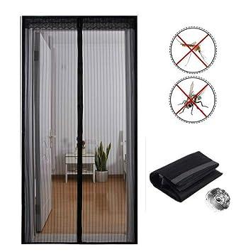 Puerta de malla magnética 90x210cm, mosquitera puerta de balcón para puerta de balcón, puerta