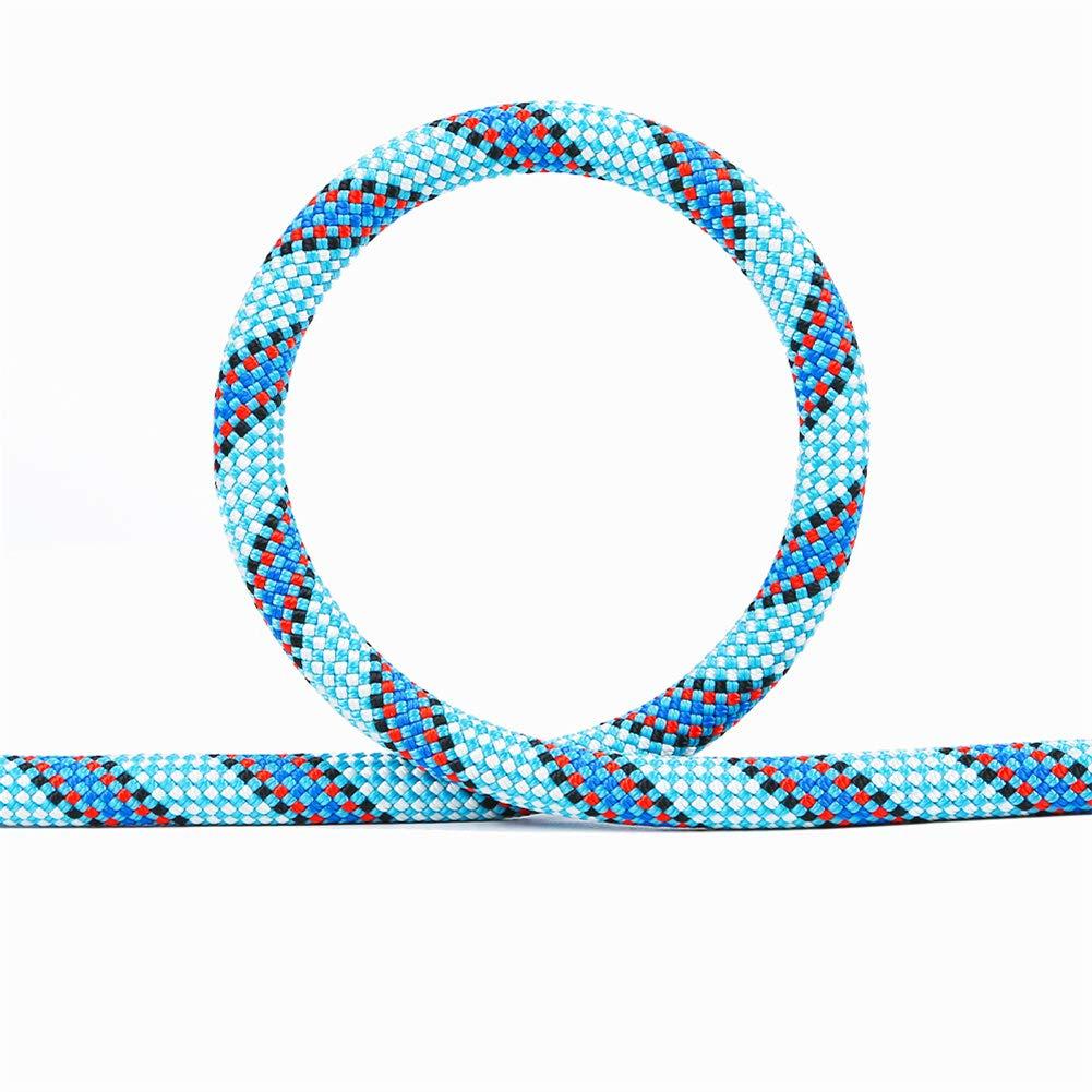 10.5メートルロッククライミングロープ8.9KN高強度安全ロープ高高度パラシュートラペリングコード屋外キャンプケイビングパワーロープ,50m 50m  B07R38RHL8