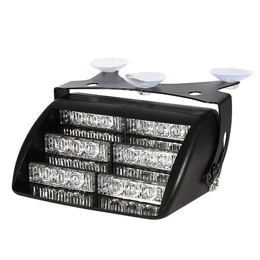 1 opinioni per VGEBY 12V 18 Flash Strobe LED Hazard di emergenza che avverte la lampada con
