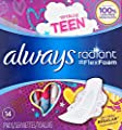 Always Totally Teen Radiant Infinity Pads, 14 Count by P&G