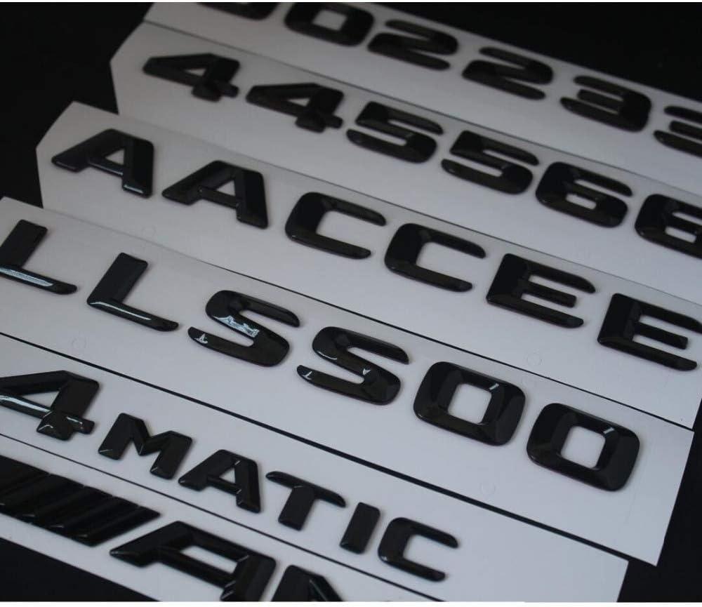 TAYDMEO Car Trunk Fender Letters Emblem Emblems Badges,for Mercedes Benz C63 C63s E63 E63s CLS63 GLE63 GLS63 AMG S 4MATIC