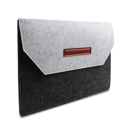 286a79688c3b Felt Laptop Sleeve Ultra Slim Notebook Case for MacBook Air/Pro Retina,  Ultrabook, 12-15.4 Inch Laptops/Notebooks (12 inch, Splice Color)