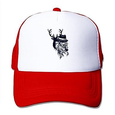 a1dd783cbaf Cap Human Face Deer Head Male Smoking Long Beard Mesh Hat at Amazon Men s  Clothing store