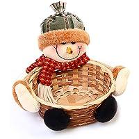 Navidad Candy Almacenamiento Cesta de bambú decoración Cesta