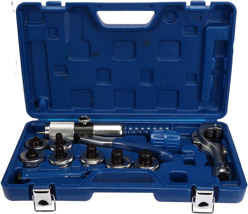 CT-300A 7-Hebel-Aluminium-Kupferrohrexpander-Werkzeug-Presswerkzeug mit Rohrschneider und Entgratungswerkzeug,3//8bis 1-1//8 Hydraulischer Rohrexpander