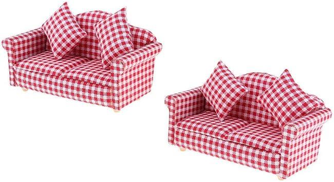Amazon Com Natfur European 1 12 Plaid Double Sofa Cushions