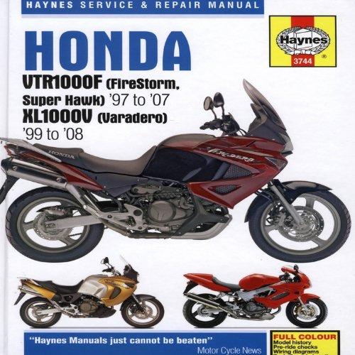 honda vtr1000f (firestorm super hawk)'97 to '07 kl1000v (varadero) '99  to'08 (haynes service & repair manual) (2009-03-01) hardcover – 1871