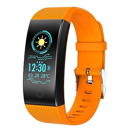 WLPT Smartwatch, QW18 Fitness Pulsera presión Arterial Monitor de ...