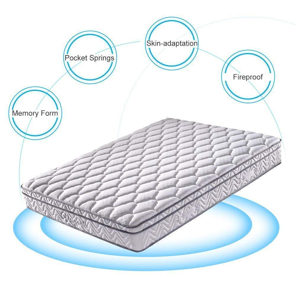 Vesgantti Multilayer Ergonomic Design Memory Foam and Pocket Spring Mattress