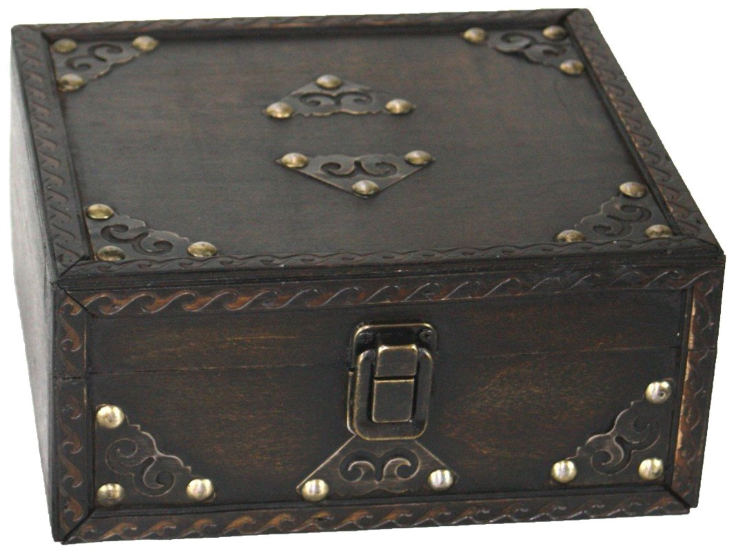 Vintiquewise(TM) Pirate Style Treasure Chest, Small