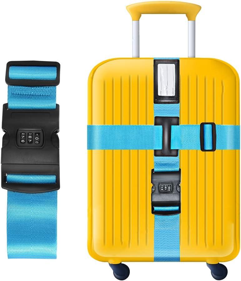 Gep/äckgurt in L/änge und Breite einstellbar Praktisches Reisezubeh/ör Luggage-02 Kofferband Kreuz-Koffergurt