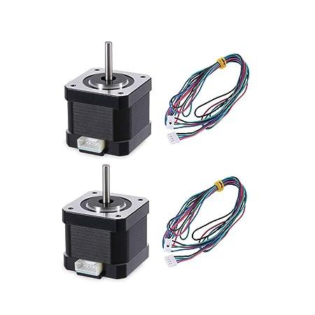 Lorsoul 2pcs 42 mm Impresora 3D Motor de Pasos del Paso 1.8 Grados ...