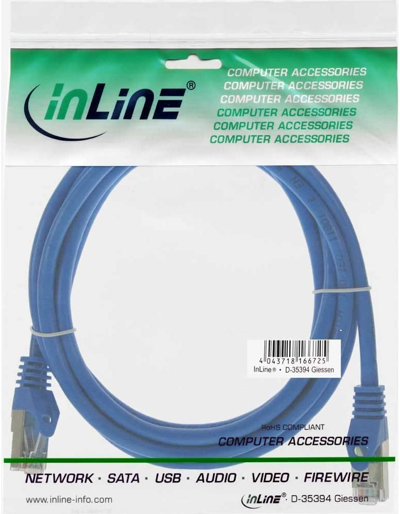 Inline 71550B F//UTP Patch Cable 0.5/m Blue
