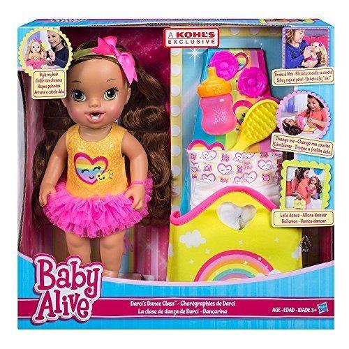 Baby Alive Darcis Dance Class Brown Hair Doll Hasbro SG/_B015ROZ6DE/_US