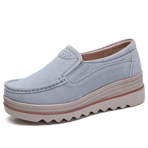 Pisos Plataformas Zapatillas De Deporte Zapatos OtoñO ResbalóN En Cuero Gamuza Casual Tacones Planos Enredaderas Mocasines Calzado: Amazon.es: Zapatos y ...