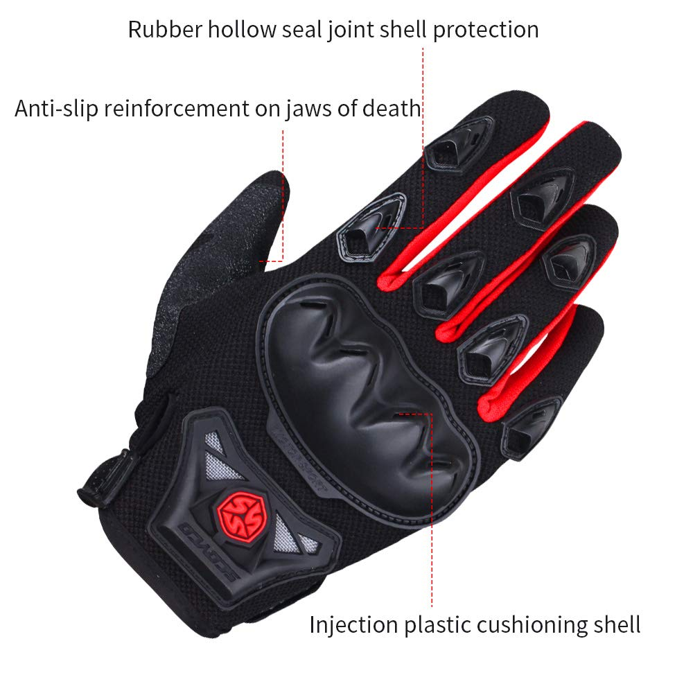 BLUE,XL SCOYCO Touch Screen Gloves,Breathable Full Finger,Motorcycle,Bicycle,Racing,Reinforced Knuckle,Outdoor Glove for Spring or Autumn.