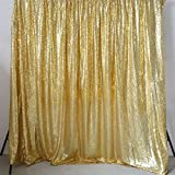 GFCC Photo Booth Backdrop Sequin Gold Backdrop Curtain Youtube Backdrop - 10FTX10FT