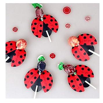 Kissfriday Süßigkeits Lutscher Dekorations Geschenk Nette Bienen Marienkäfer Schmetterlings Lollypop Entwurfs Reizende Stützen Für Die