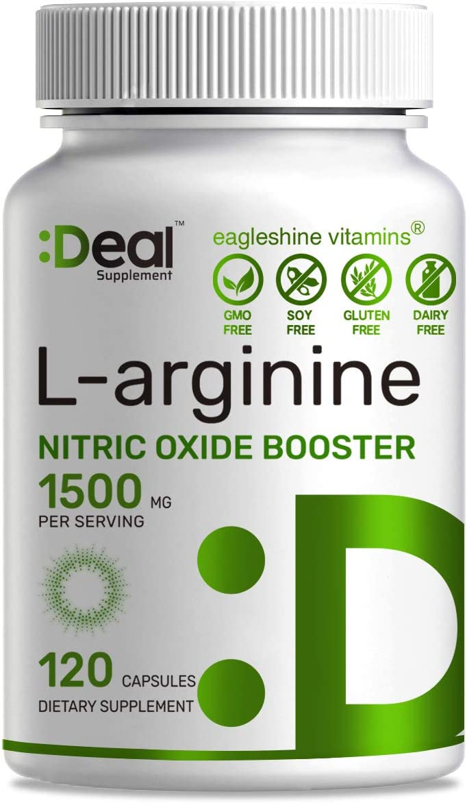 Extra Strength L-Arginine, 1500 mg, 120 Capsules, 3-1 Arginine Complex L-Arginine and L-Citrulline with AAKG , Nitric Oxide Booster Supplement for Muscle Growth, Libido, Vascularity Energy