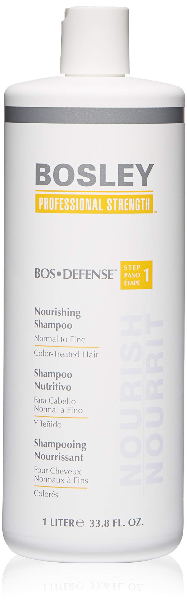 Bosley Bos-Defense Nourishing Shampoo, 33.8 Ounce by Bosley Professional Strength