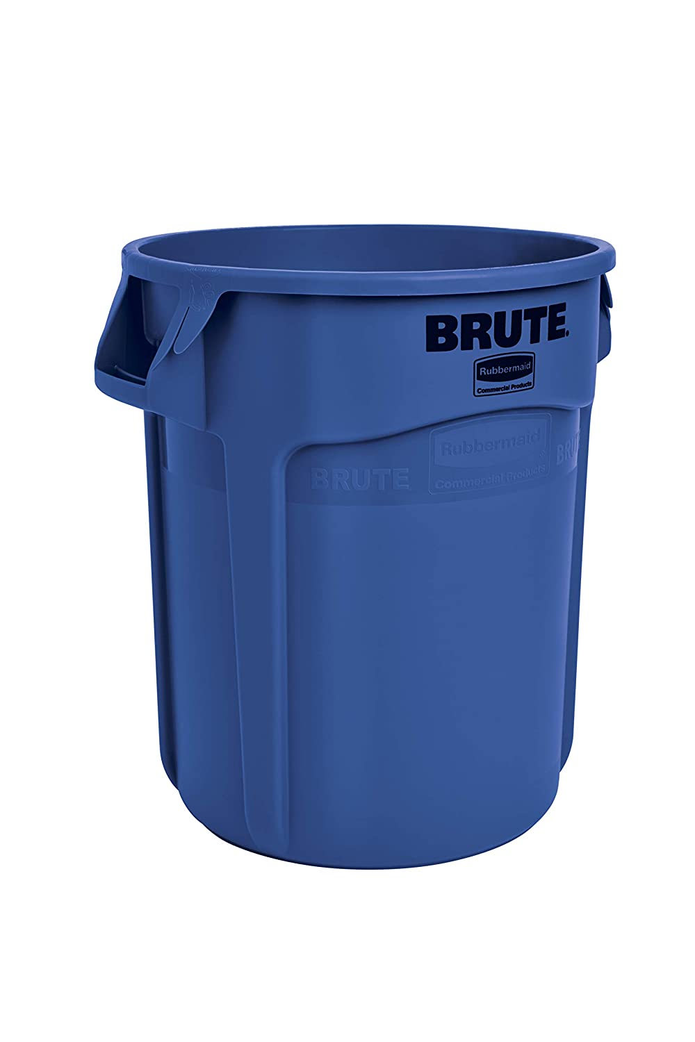 Rubbermaid Commercial Products Brute Heavy-Duty Round Waste/Utility Container with Venting Channels, 20-Gallon, Blue (FG262000BLUE)