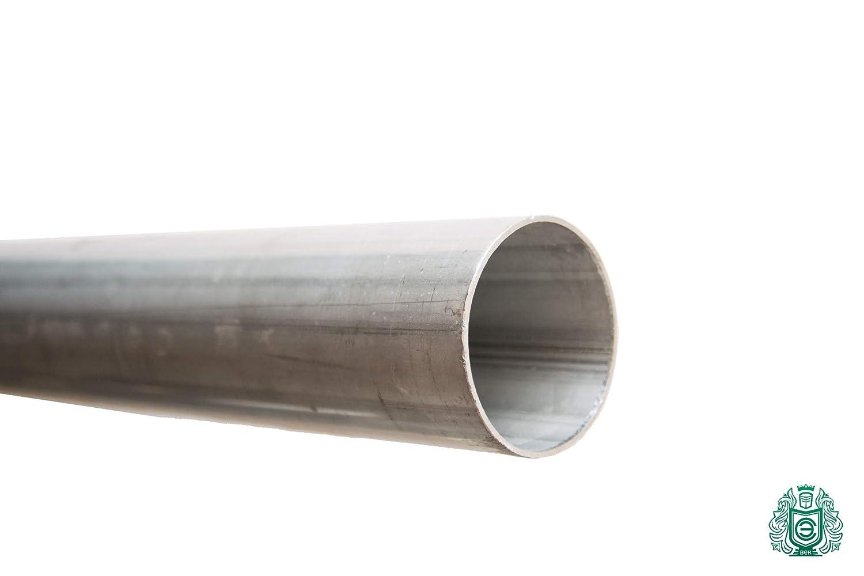 Tubo di scarico in acciaio inox 1.4301 rotondo in acciaio inox V2A con pali di scarico, 2 m, 304 Evek