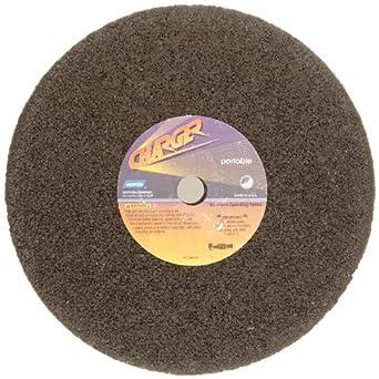 "Norton Charger Portable Snagging Abrasive Wheel, Type 1, Straight, Zirconia Alumina, 5/8""-11 Arbor, 1-1/2"" Diameter, 2-1/2"" Thickness (Pack of 1)"