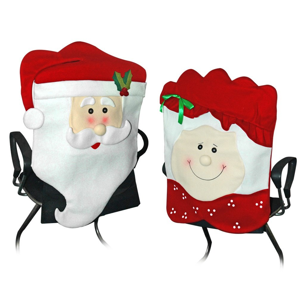 Amazon.com: Mr & Mrs Santa Claus Christmas Kitchen Chair Covers ...