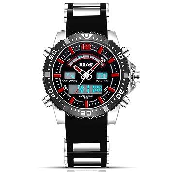 Relojes Deportivos para Hombre Digitales - Relojes Deportivos Impermeables Al Aire Libre con Banda De Silicona