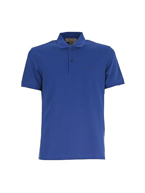 6c6a01b06ffc Burberry Men's 4032854 Blue Cotton Polo Shirt: Amazon.ca: Sports & Outdoors