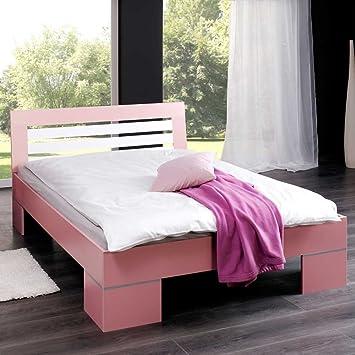 Pharao24 Mädchenbett in Weiß Rosa 140x200: Amazon.de: Küche & Haushalt