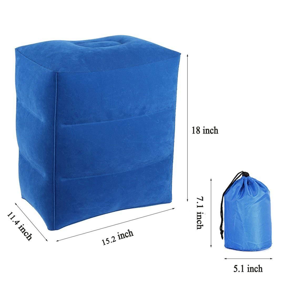 AirGoods Almohada Inflable de Viaje para Descansar los Pies y para Niños Durmiendo en Aviones (azul): Amazon.es: Equipaje