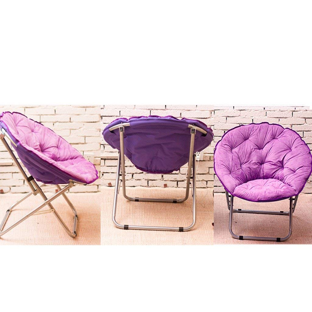 LDM Måne stol/schäslong/lunchpaus fällstol / ryggstöd stol/solstol enkel (färg: röd) lila