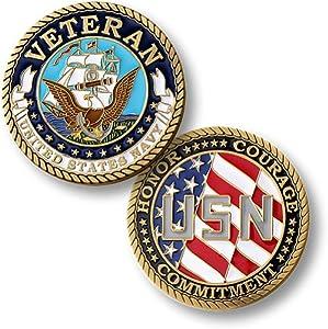 Navy Veteran - Enamel