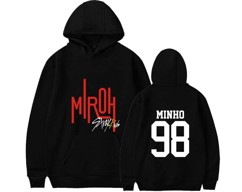 Xkpopfans Kpop Stray Kids MIROH Hoodie Sweatshirt Woojin Felix Hyunjin Minho Pullover Sweater
