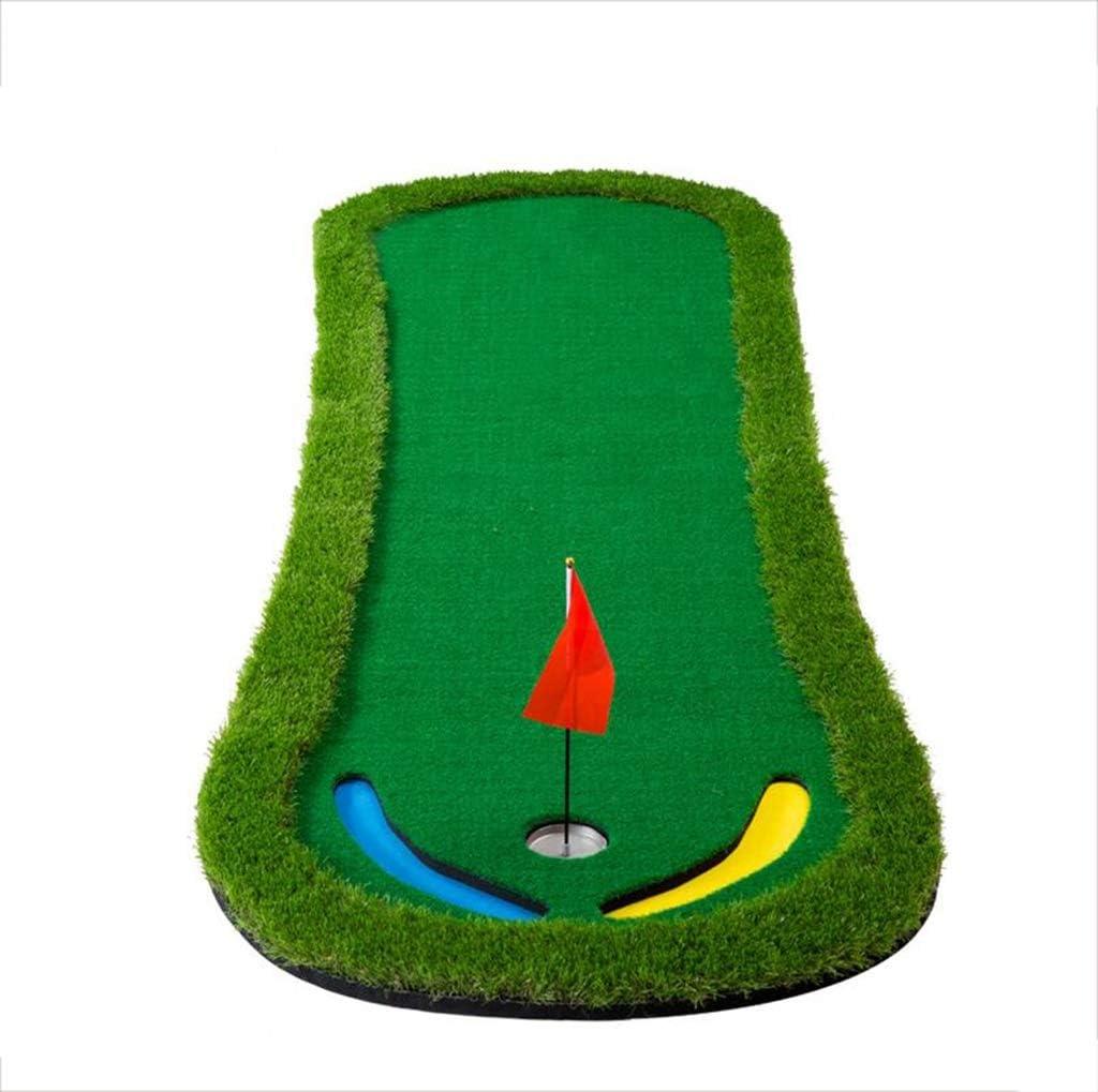 ゴルフマット屋内ゴルフパットマットプラクティスマットホームゴルフポータブルゴルフドライビングマット、300 * 95cm