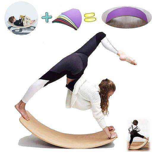 Childrens Seesaw Rocker Wooden Balance Boards,kids Yoga ...